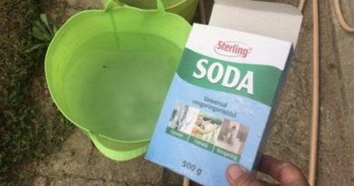 Rengør med regnvand og soda